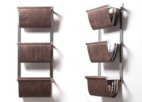 Wall Mounted Magazine Rack by Terence Williams Design